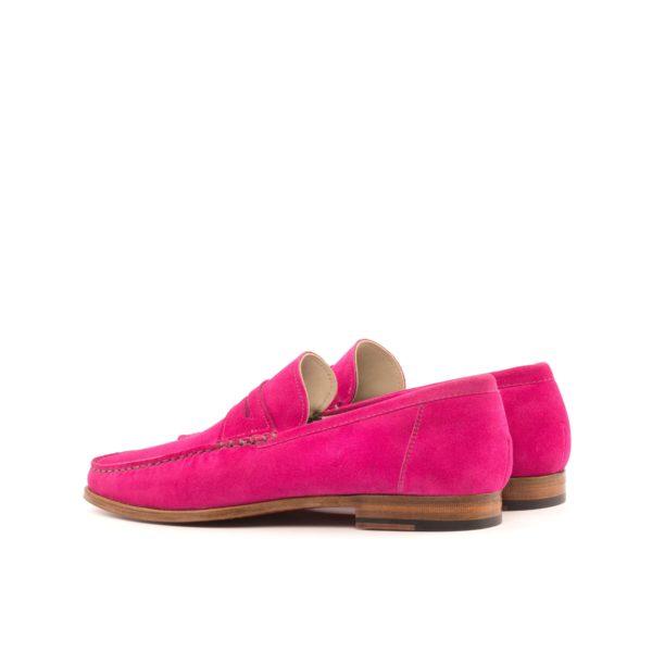 rear detail on pink suede slip-on Moccasin shoe TEDDY