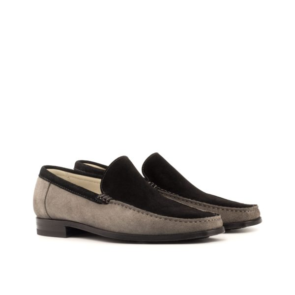 multi-color Moccasins in grey and black suede TIM by Civardi