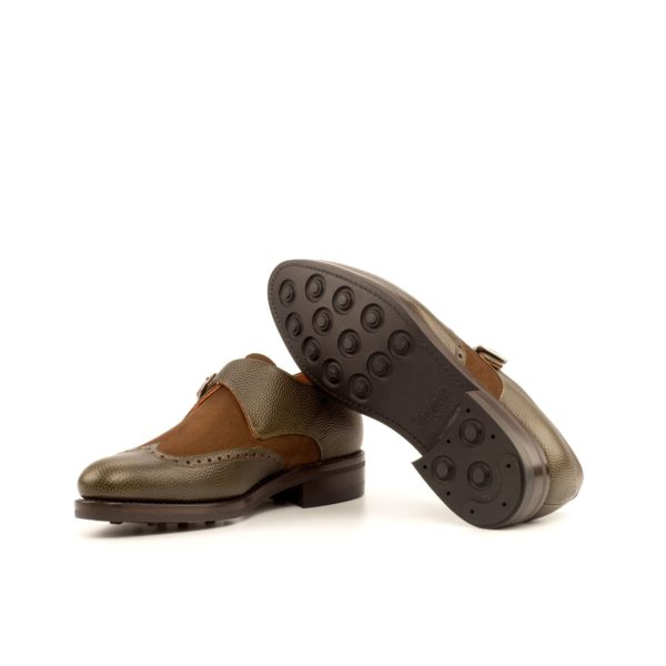 goodyear welted Dainite rubber soles on Single Monk Shoes BART