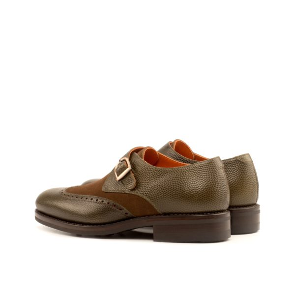 rear detail of copper buckle on Single Monk Shoes BART