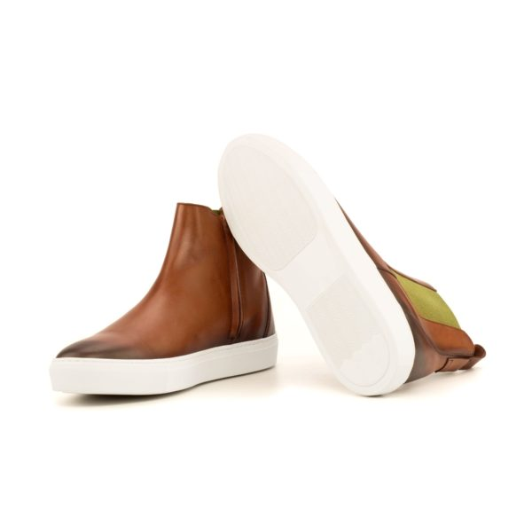 white thick rubber sneaker soles on casual Chelsea Sport Boots CAL