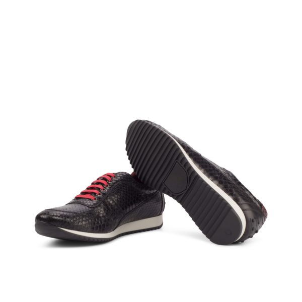 running style casual rubber soles on black python Corsini Trainers DARKNESS
