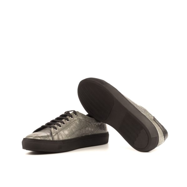 black rubber soles on grey Alligator Trainers IRWIN