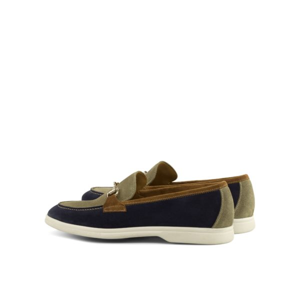 rear detail of multi color casual suede Loafers JAYE