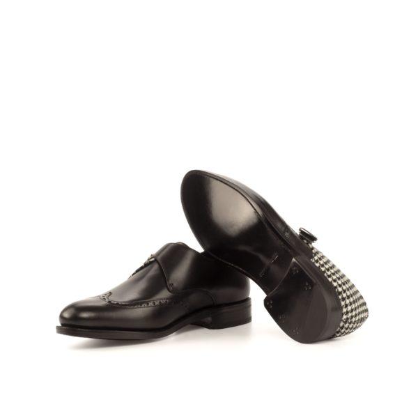 black goodyear welted soles on fancy Single Monk Shoes JOSH