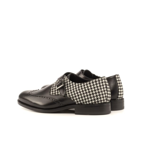 rear houndstooth fabric detail on Single Monk Shoes JOSH