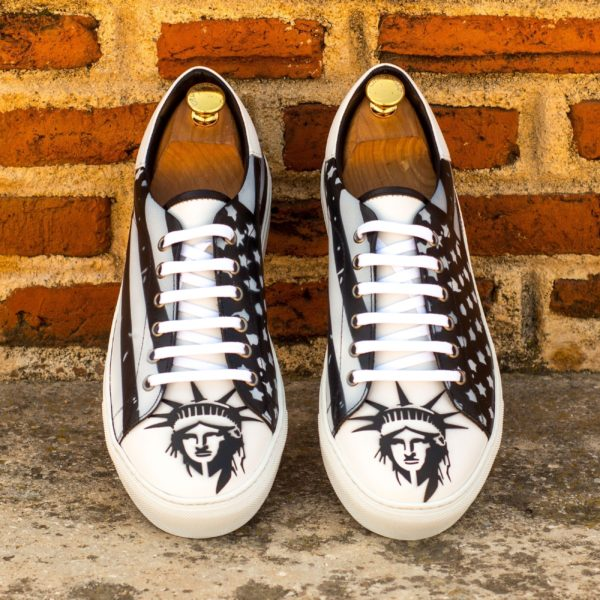 hand painted Stencil Art Trainers LIBERTY