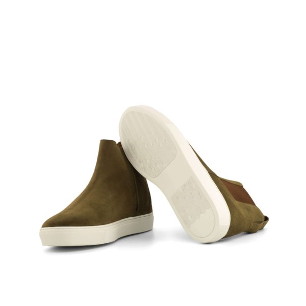 white rubber sneaker soles on suede Chelsea Sport Boots LOUIS