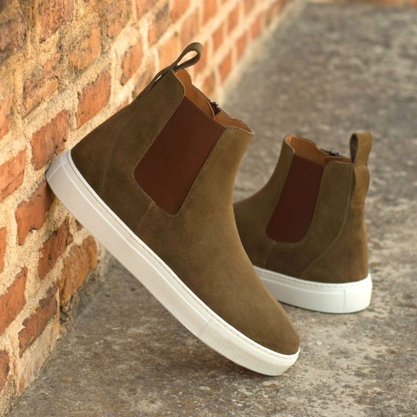 khaki suede sneaker style Chelsea Boots LOUIS