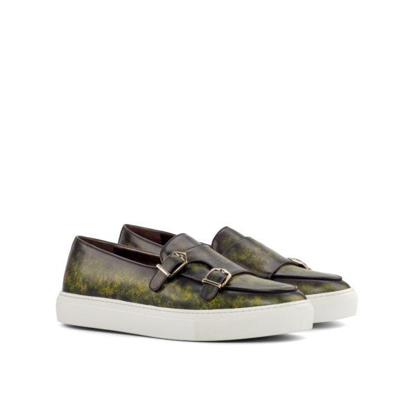 khaki green marble Patina Monk Sneakers MILO by Civardi