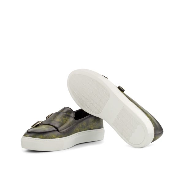 white rubber soles on mens Patina Monk Sneakers MILO