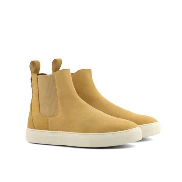 sand beige luxury suede casual Chelsea Boots PERRY by Civardi