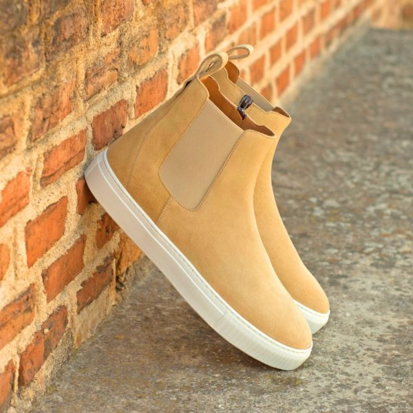 sand beige suede casual Chelsea Sport Boots PERRY