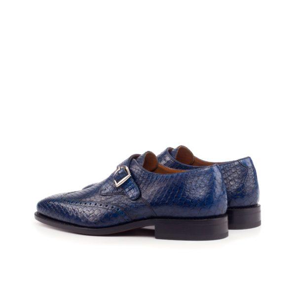 rear detail navy Python Monk Shoes SCALITA