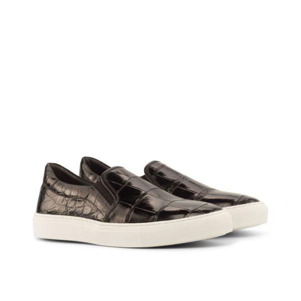 Alligator Slip-On Sneakers STEALTH