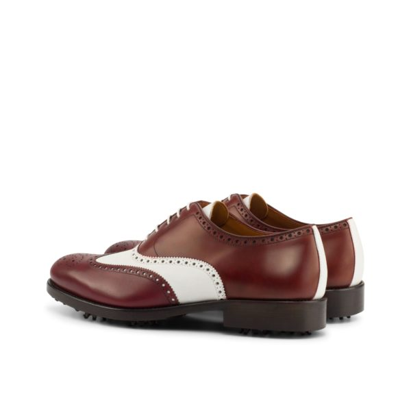 rear contrast white leather strip Brogue Golfing Shoes STEWART