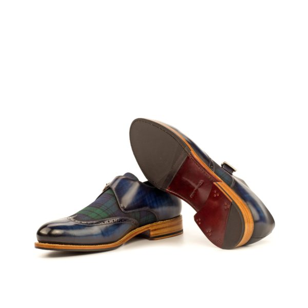 Goodyear welted tartan Monk Shoes THISTLE