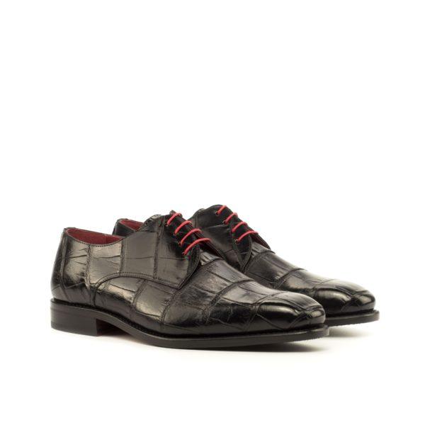 black genuine Alligator Derby Shoes WINSTON by Civardi