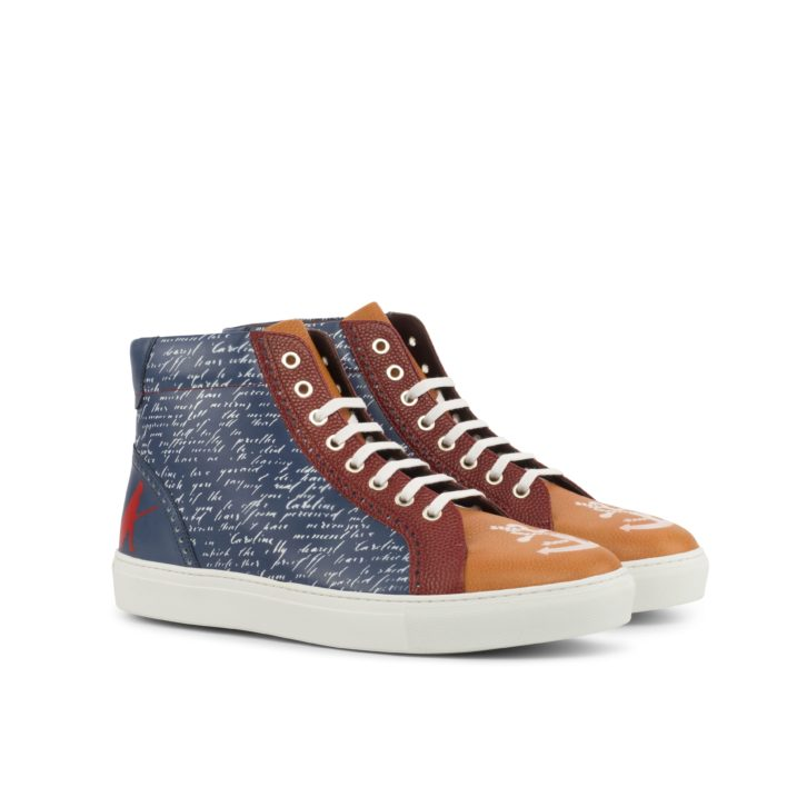 Stencil Art Kicks Hi-Tops AHOY