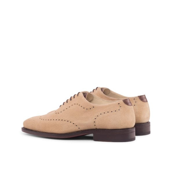 beige WholeCut Shoes with leather trim WILSON