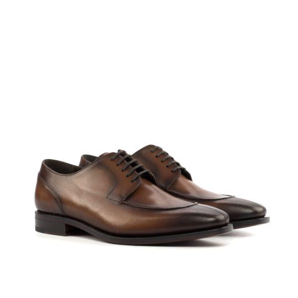 brown leather Split Toe Derby Shoes CONGRESS by Civardi
