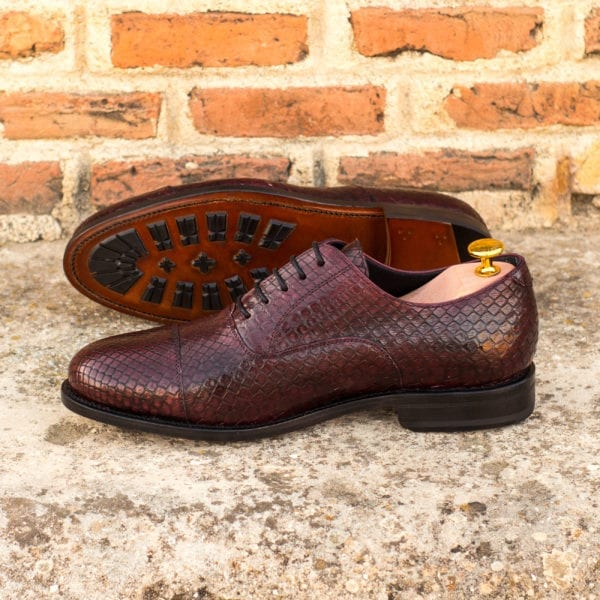 order or customize burgundy Python Oxford Shoes KENT