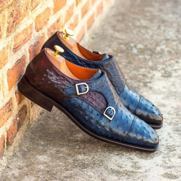 custom design Ostrich Monk Shoes ROWLAND