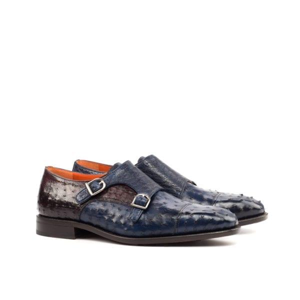 genuine Ostrich Monk Shoes for men ROWLAND by Civardi