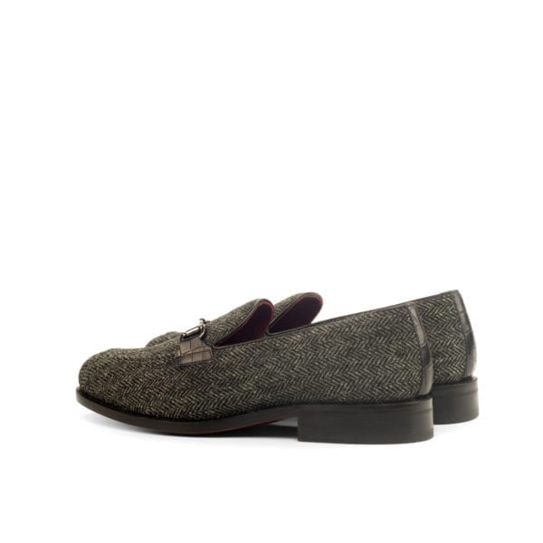 grey tweed Loafers for men KERR