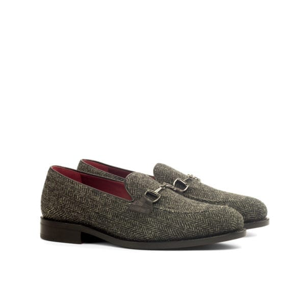 grey herringbone tweed Loafers KERR by Civardi