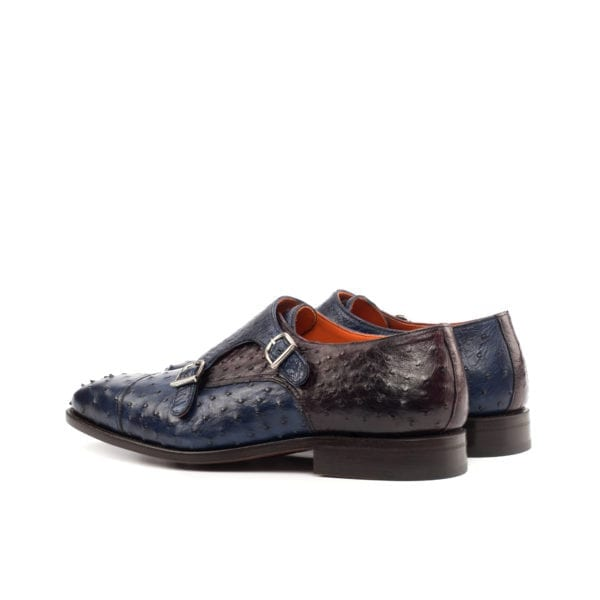 Ostrich Double Monk Shoes ROWLAND