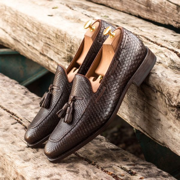 brown tassel loafers in real python SANDWELL