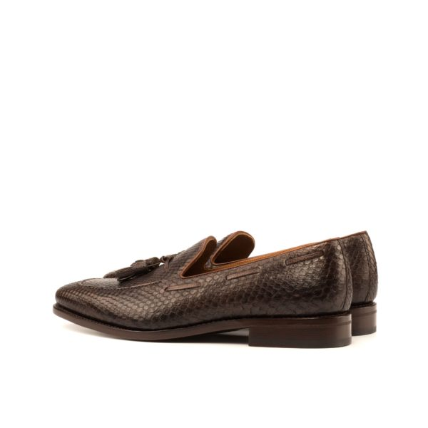 tassel and lace detail on Python Loafers SANDWELL