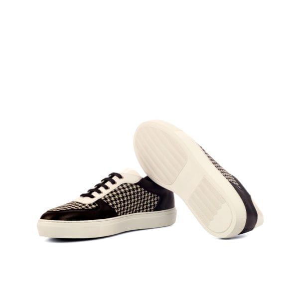 black and white houndstooth trainer JIM