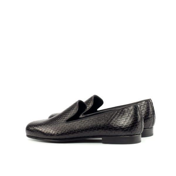 black Python Albert Slippers rounded toe KENTON