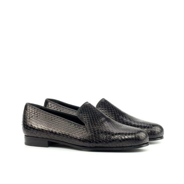 black Python Albert Slippers for men KENTON