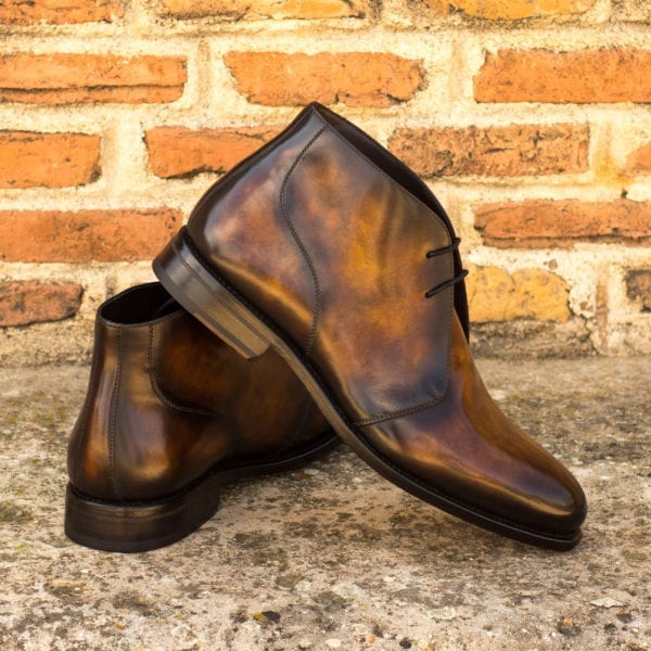 order custom Patina leather Chukka Boots CARTER