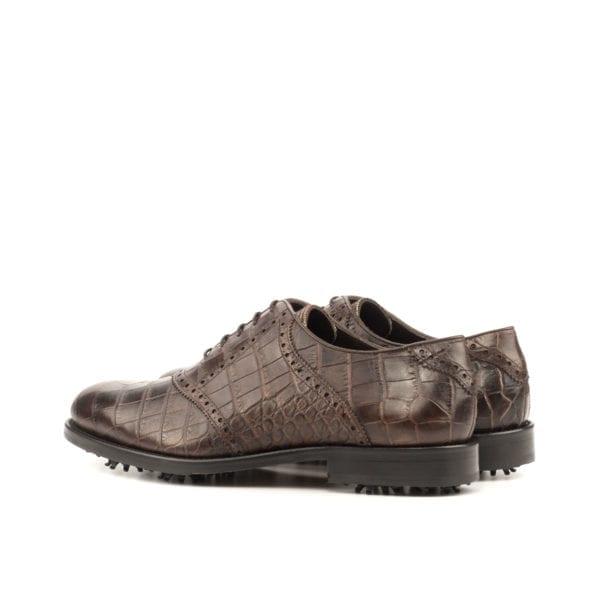 dark brown lace-up Saddle Golf Shoes LANGER