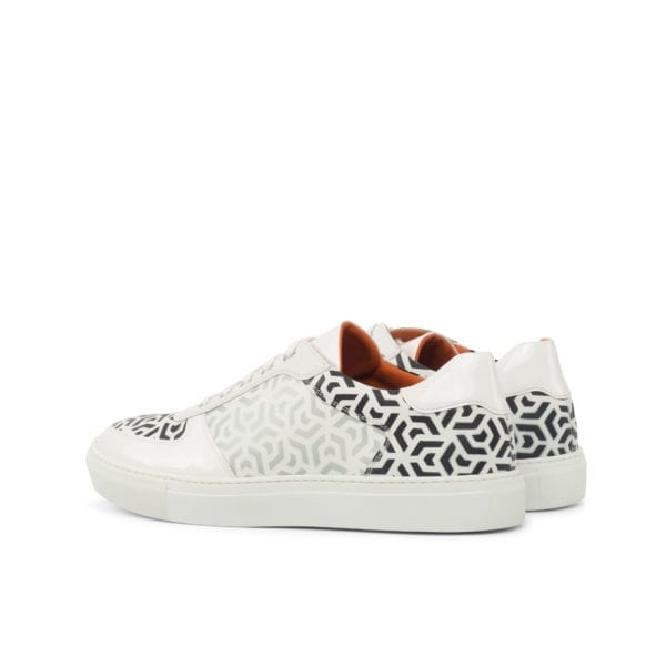 hand stenciled geometric pattern Low-Top trainers GEO