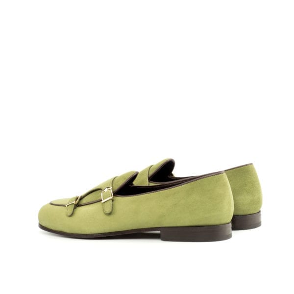 Monk Slippers in khaki colored suede BRANDON