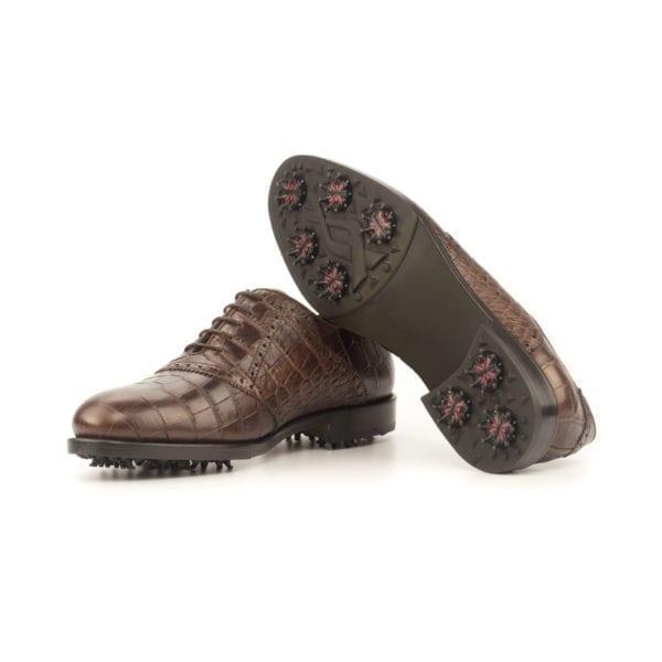 men's brown leather Saddle Golf Shoes LANGER