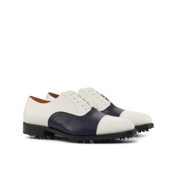 navy and white leather Golf Shoes ROSE