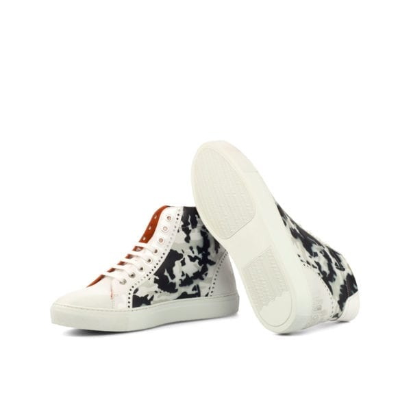 siver and navy camo pattern hand painted Hi-Tops URBAN