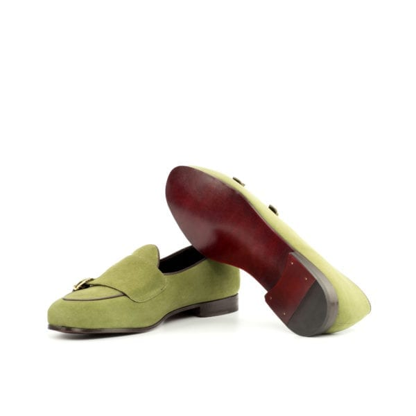 Double Monk Slippers for men in soft suede BRANDON