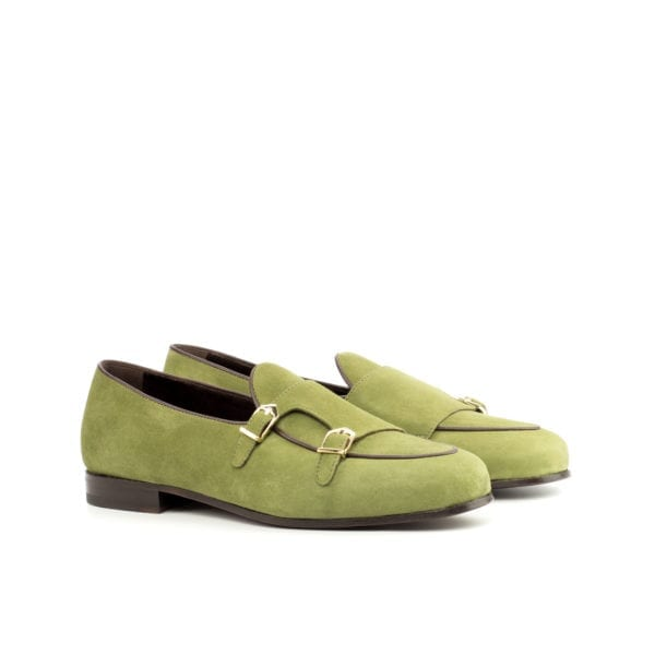khaki suede Monk Slippers BRANDON by Civardi