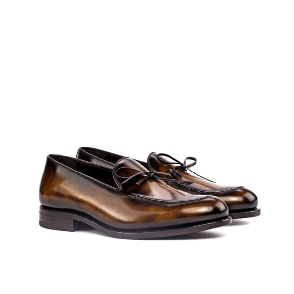 tobacco museum patterned Patina leather Loafers NIXON