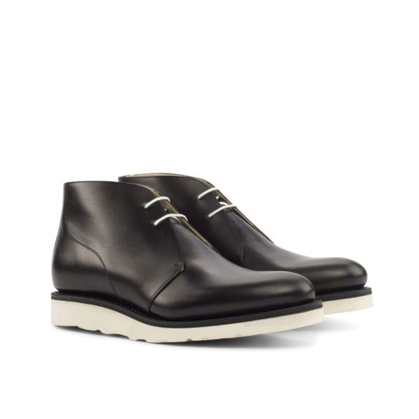 Chukka Boots with a chunky white rubber sole RAMSDEN