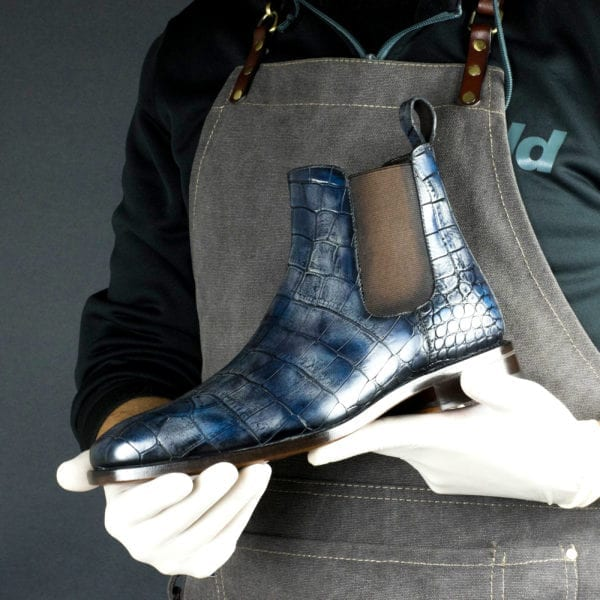 Special Edition navy croco patina Chelsea Boot STARDUST