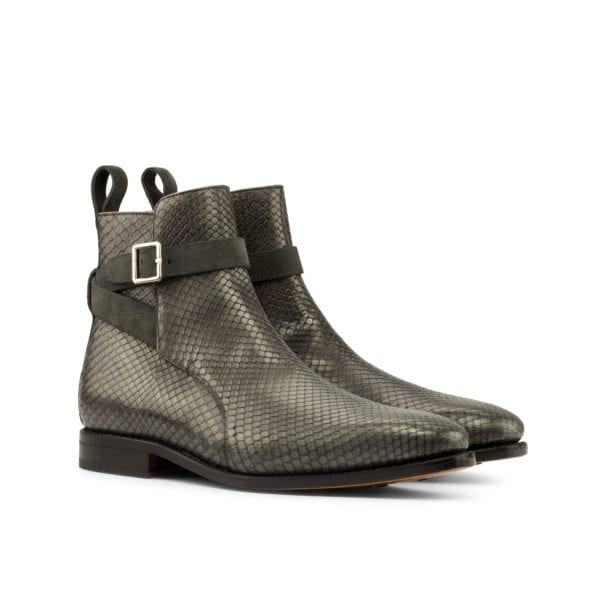 grey genuine python jodhpur boots for men SIMMONS