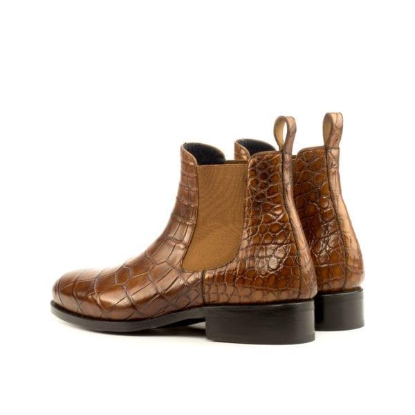 Alligator Chelsea Boots with a higher heel height WETLANDS
